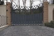 Cancello carraio in ferro forgiato. Commissione privata