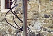 """""""Tauromachia"""". Acciaio inox e ferro forgiato museo Komenko (CK) realizzata in occasione del Kovarske forum 3003 (cm 250x80 )"""